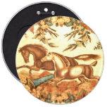 Botón ecuestre del caballo del vintage pins