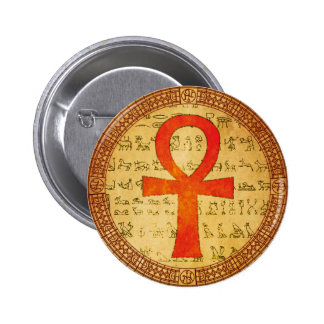 Botón egipcio - cruz de Ankh