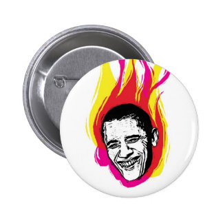 Botón el flamear Obama Pin Redondo De 2 Pulgadas