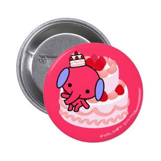 Botón - elefante de la torta - torta grande pins