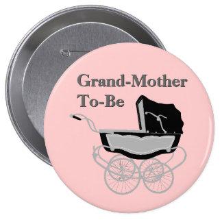 Botón elegante de la fiesta de bienvenida al bebé