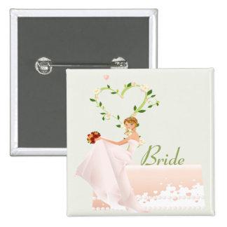 Botón elegante de la novia