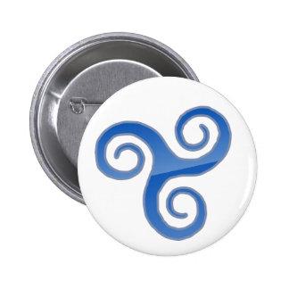 botón Empuje--derecho Pin Redondo De 2 Pulgadas