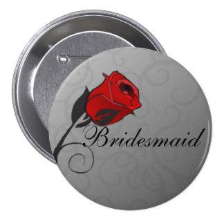 Botón encantado de Bridemaids de los rosas
