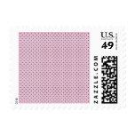 Botón encima de puntos rosados y púrpuras sello