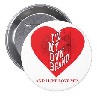 ¡Botón encima de su marca! Pin Redondo 7 Cm