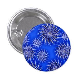Botón enérgico de giro abstracto del modelo de las pin redondo de 1 pulgada