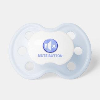 Botón enmudecedor azul divertido Pacis Chupete De Bebe