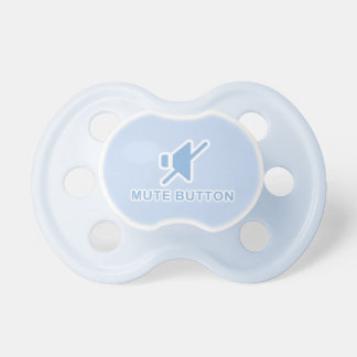 Botón enmudecedor azul lindo Binky Chupetes De Bebé