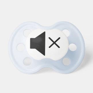 Botón enmudecedor chupetes de bebe