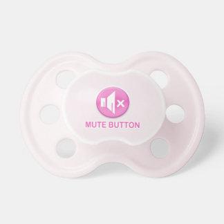 Botón enmudecedor rosado divertido Pacis Chupetes Para Bebés