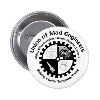 Botón enojado de los ingenieros pin redondo de 2 pulgadas