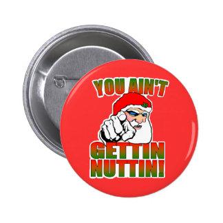 Botón enojado de Santa Pin Redondo De 2 Pulgadas
