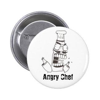 Botón enojado del cocinero pin redondo de 2 pulgadas