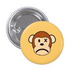 Botón enojado del mono pin