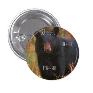 Botón enojado del oso pin redondo de 1 pulgada