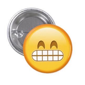 Botón enojado divertido del smiley del emoji pin redondo de 1 pulgada