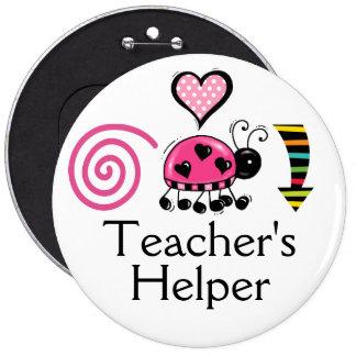 Botón ENORME - el ayudante del profesor - SRF Pin Redondo De 6 Pulgadas