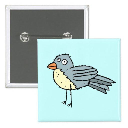 Botón enrrollado del pájaro de la granja