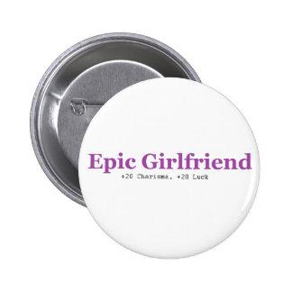 Botón épico de la novia pin redondo de 2 pulgadas