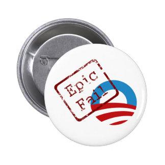 Botón épico del fall de Obama Pins