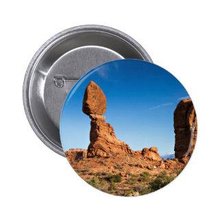 Botón equilibrado de la roca pin redondo de 2 pulgadas