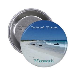 Botón escénico del recuerdo de la playa de Hawaii  Pin Redondo De 2 Pulgadas