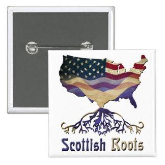 Botón escocés americano de las raíces