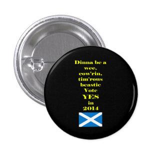 Botón escocés timorato de la independencia de Beas Pin