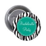 Botón esmeralda del fiesta de Bachelorette del est Pins