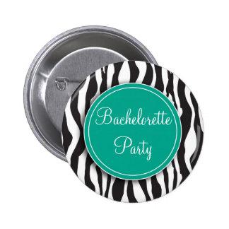 Botón esmeralda del fiesta de Bachelorette del est Pin Redondo De 2 Pulgadas