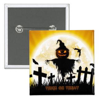 Botón/espantapájaros cuadrados de Halloween Pin Cuadrado