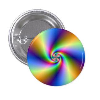 Botón espiral psicodélico de cuatro vientos pin