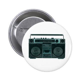 botón estéreo retro