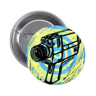 botón estupendo de la cámara de película 8 pin redondo de 2 pulgadas