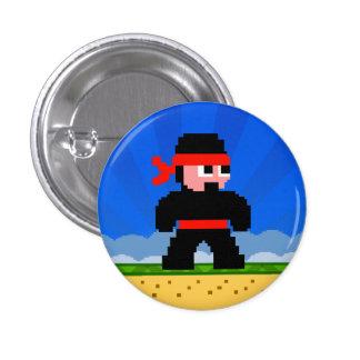 Botón estupendo de Ninja del niño Pin Redondo De 1 Pulgada