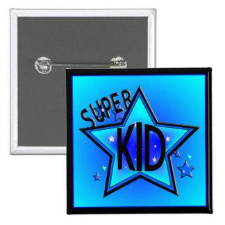 Botón estupendo del azul del niño de la estrella