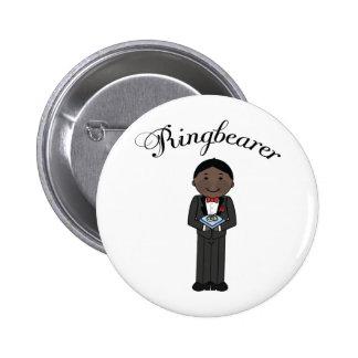 Botón étnico del boda de Ringbearer