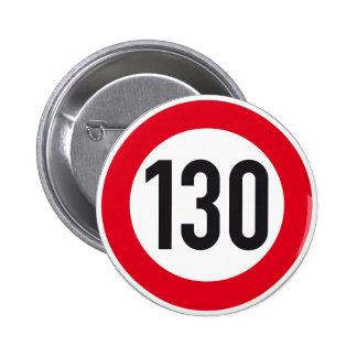 botón europeo de la muestra de la carretera de 130