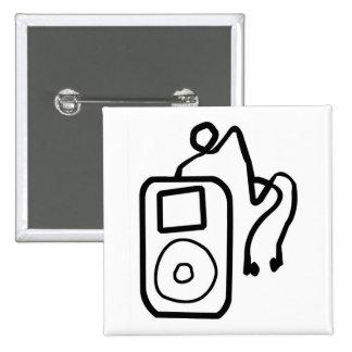 Botón exhausto de iPod Pins