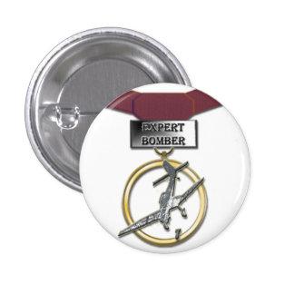 Botón experto de la medalla del bombardero