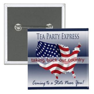 Botón expreso de la fiesta del té