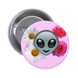 botón extranjero del emoji pin redondo de 2 pulgadas