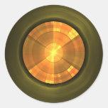 Botón extranjero pegatinas redondas