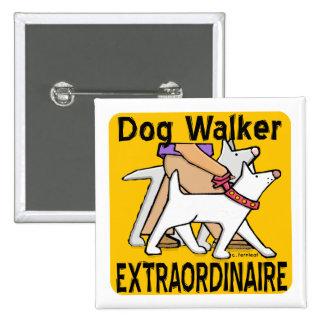 Botón Extraordinaire del caminante del perro Pins