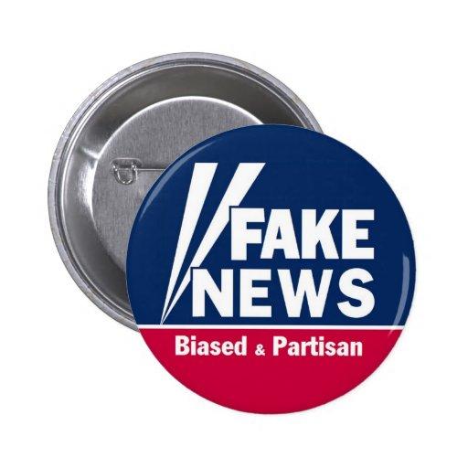 Botón falso de las noticias pin redondo de 2 pulgadas