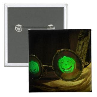 Botón fantasmagórico de espec. del holograma de la pin cuadrado