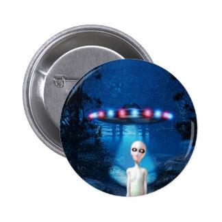 Botón fantasmagórico del encuentro del cierre del  pin redondo de 2 pulgadas