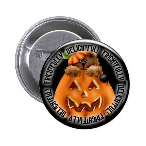 Botón fantasmagórico del pinback de la calabaza de pins
