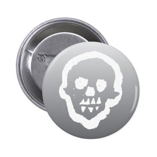 Botón fantasmal del cráneo del vudú pin